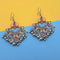 Jeweljunk Yellow And Maroon Meenakari Afghani Earrings
