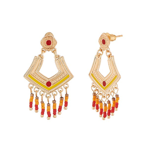 Urthn Meenakari Gold Plated Dangler Earrings