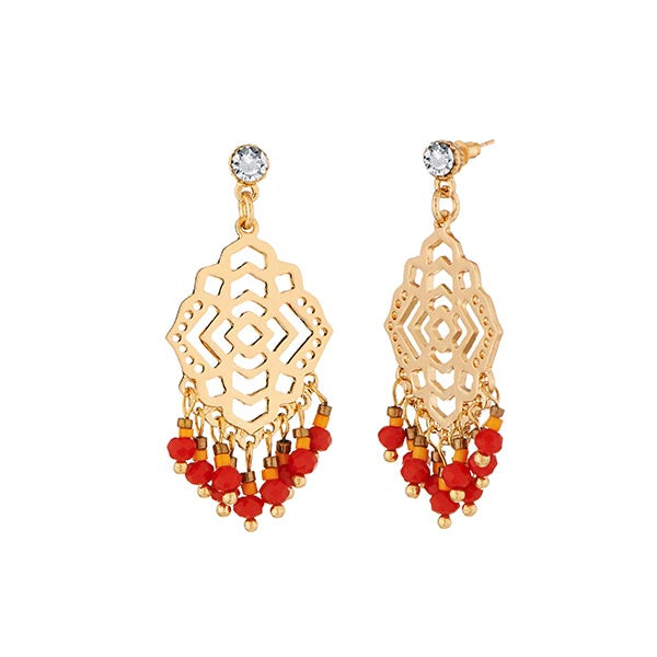 Urthn Austrian Stone Gold Plated Dangler Earrings