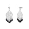Urthn Austrian Stone Silver Plated Dangler Earrings