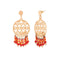 Urthn Beads Gold Plated Dangler Earrings