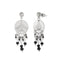 Urthn Austrian Stone Black Beads Dangler Earrings