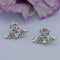 Kriaa Silver Plated White Austrian Stone Stud Earrings - 1312621G