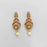Kriaa Gold Plated Orange Austrian Stone Dangler Earrings