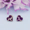 Kriaa Purple Meenakari Gold Plated Stud Earrings