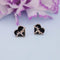 Kriaa Black Meenakari Gold Plated Stud Earrings