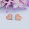 Kriaa Peach Meenakari Gold Plated Stud Earrings