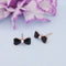 Kriaa Gold Plated Black Meenakari Stud Earrings