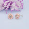 Kriaa Peach Enamel Austrian Stone Gold Plated Stud Earrings - 1312871C