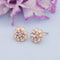 Kriaa Gold Plated White Meenakari Austrian Stone Stud Earrings - 1312871F