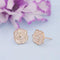 Kriaa White Meenakari Gold Plated Stud Earrings - 1312872B