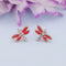 Kriaa Red Meenakari Austrian Stone Stud Earrings - 1312874F