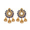 Shreeji Austrian Stone Gold Plated Dangler Earrings