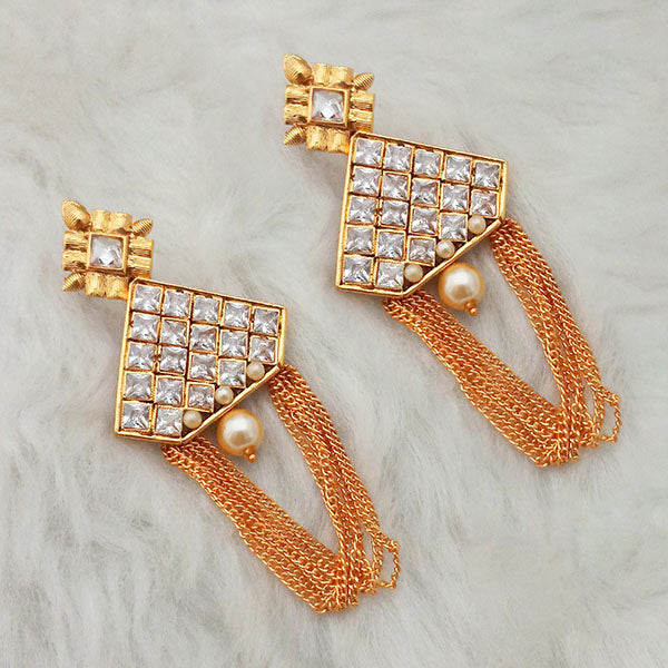 Shreeji Gold Plated AD Stone Dangler Earings