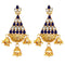 Kriaa Austrian Stone Gold Plated Dangler Earrings