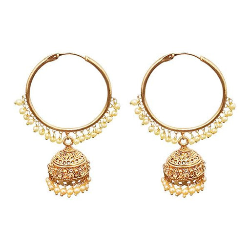 Kriaa Gold Plated Pearl Jhumki Earrings