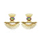 Native Haat Crystal Stone Gold Plated Dangler Earrings - N1313105A