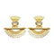 Native Haat Crystal Stone Gold Plated Dangler Earrings - N1313105E