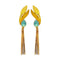 Native Haat Blue Crystal Stone Gold Plated Dangler Earrings - N1313107D