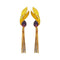 Native Haat Purple Crystal Stone Gold Plated Dangler Earrings - N1313107E