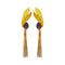Infinity Purple Crystal Stone Gold Plated Dangler Earrings