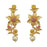 Infinity Pink Austrian Stone Gold Plated Floral Dangler Earrings
