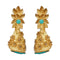 Infinity Blue Austrian Stone Pearl Drop Gold Plated Dangler Earrings
