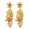 Infinity Pink Austrian Stone Pearl Drop Gold Plated Dangler Earrings