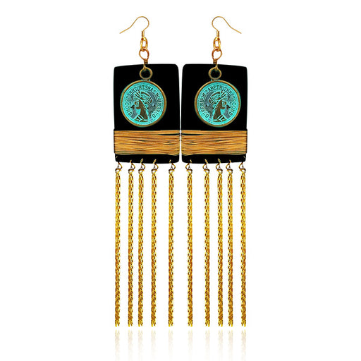 Urthn Zinc Alloy Gold Plated Hanging Earrings