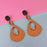 Urthn Gold Plated Brown Wood Dangler Earrings