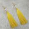 Jeweljunk Thread Gold Plated Butterfly Design Tassel Earrings
