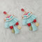 Jeweljunk Blue Thread Multi Stone Gold Plated Tassel Earrings