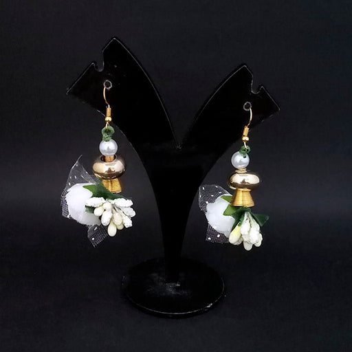 Kriaa White Floral Earrings - 1313432E