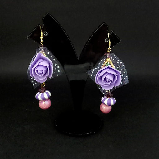 Kriaa Purple Floral Earrings - 1313435F