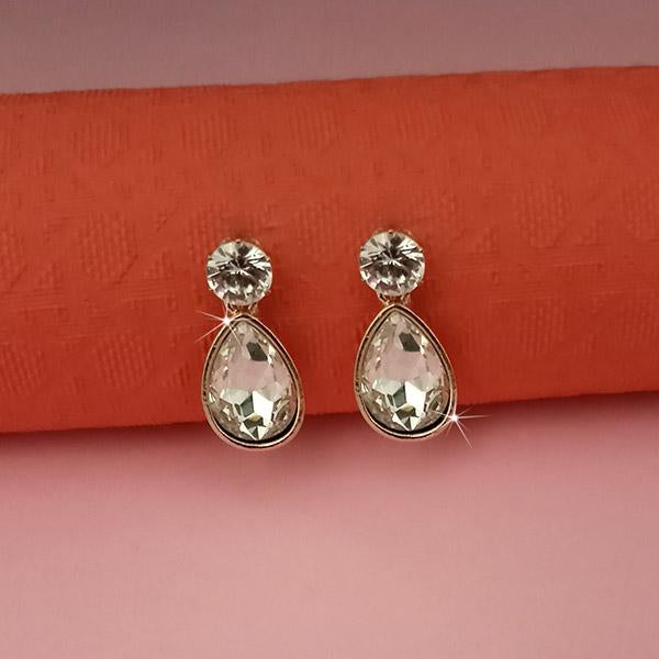 Kriaa White Crystal And Austrian Stone Stud Earrings -1313663G