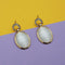 Kriaa Resin And Austrian Stone Gold Plated Dangler Earrings