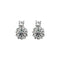 Kriaa Austrian Stone Silver Plated Stud Earrings