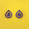 Kriaa Blue Austrian Stone Gold Plated Stud Earrings - 1313839C