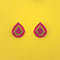 Kriaa Pink Austrian Stone Gold Plated Stud Earrings - 1313839J