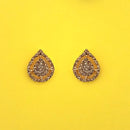 Kriaa Brown Austrian Stone Stud Earrings - 1313839K