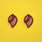 Kriaa Maroon Austrian Stone Gold Plated Stud Earrings - 1313840E