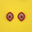 Kriaa Red Austrian Stone Gold Plated Stud Earrings - 1313852J