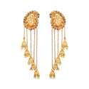 Kriaa Gold Plated  Stone Beads Dangler Earrings