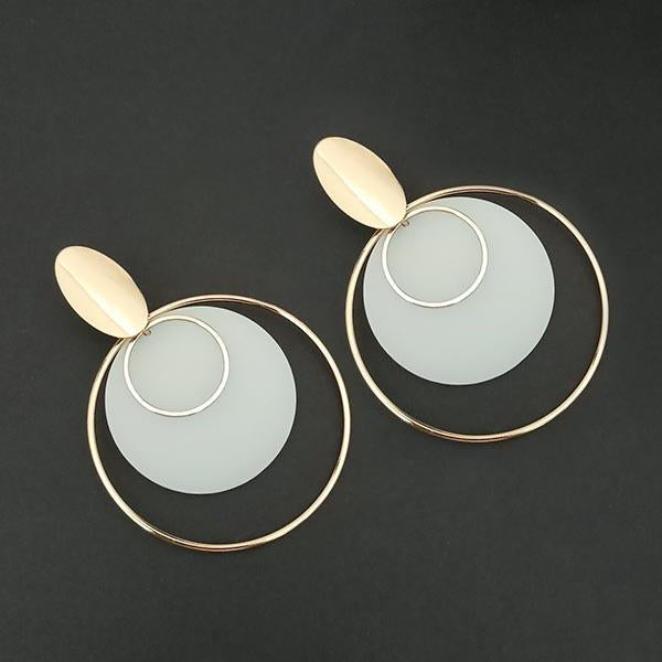 Urthn White Acrylic Dangler Earrings - 1314002