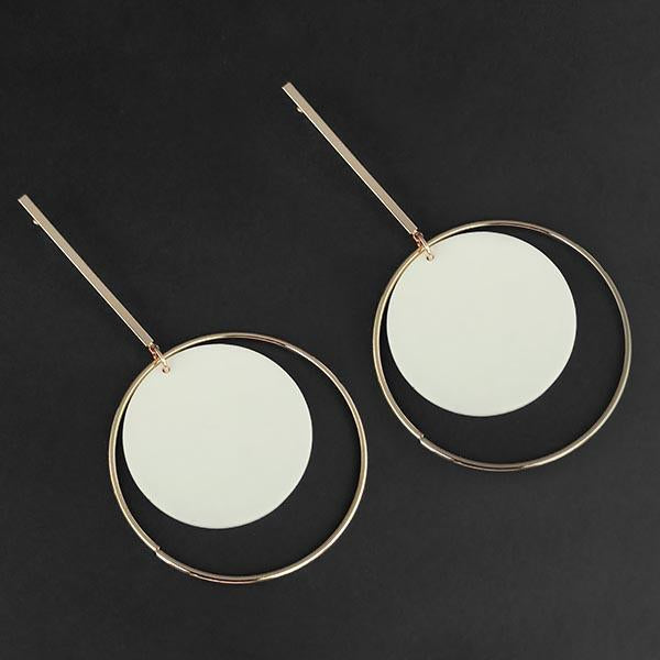 Urthn White Acrylic Dangler Earrings - 1314004A