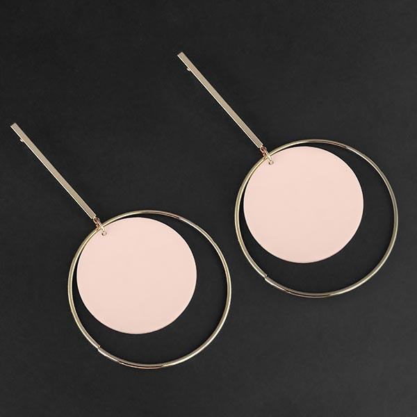 Urthn Pink Acrylic Dangler Earrings - 1314004E