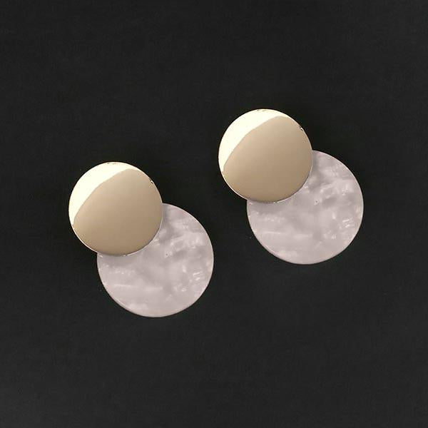 Urthn White Acrylic Dangler Earrings - 1314006D