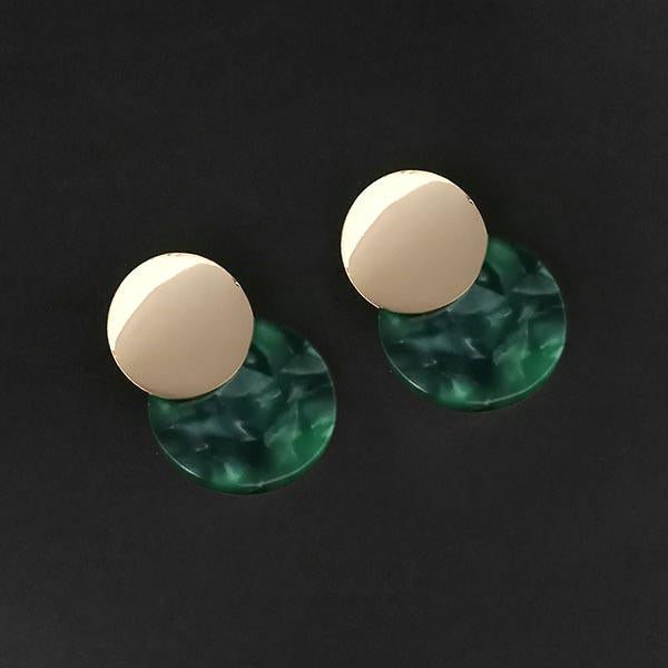 Urthn Green Acrylic Dangler Earrings