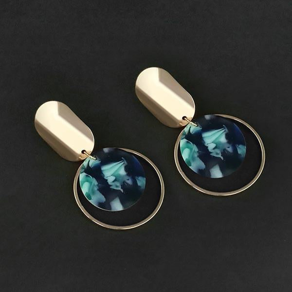 Urthn Blue Acrylic Dangler Earrings