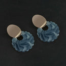 Urthn Blue Acrylic Dangler Earrings - 1314009C